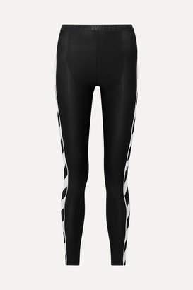 Off-White Striped Stretch Leggings - Black