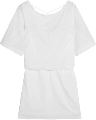 Vix Mayra embroidered cotton mini dress $176 thestylecure.com