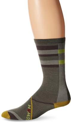 Wigwam Men's Urbanite Merino Wool Geometric Print Crew Length Sock