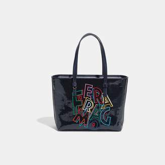 Salvatore Ferragamo Medium Bonnie Leather Tote
