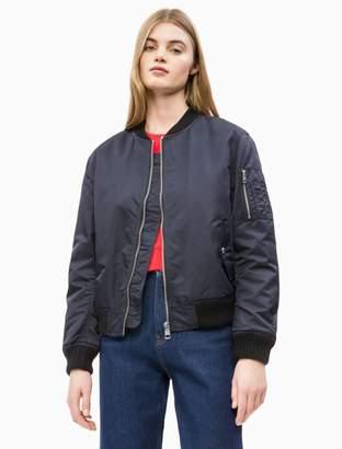 Calvin Klein Ma1 Nylon Logo Bomber Jacket