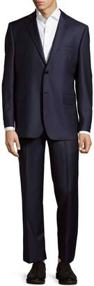 Saks Fifth Avenue Made In Italy Slim Fit Herringbone Wool Suit