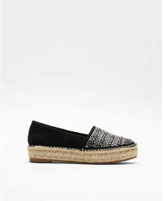 Express embellished espadrille slip-on shoes