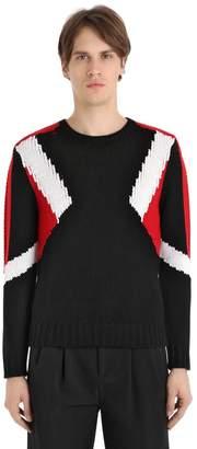 Neil Barrett Modernist Intarsia Wool Sweater