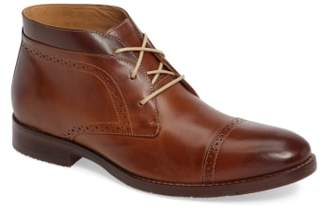 Johnston & Murphy Garner Cap Toe Chukka Boot