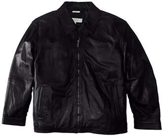 Perry Ellis Men's Big Lamb Leather Jacket