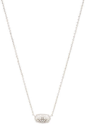 Kendra Scott Elisa Brie Necklace in Metallic Silver. $55 thestylecure.com