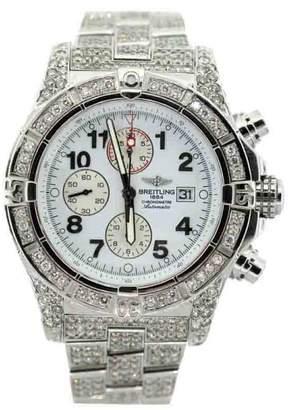 Breitling Chronomat Stainless Steel & 11ct Diamond Mens Watch
