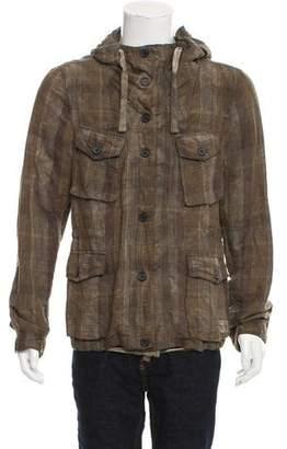 AllSaints Linen-Blend Hooded Jacket