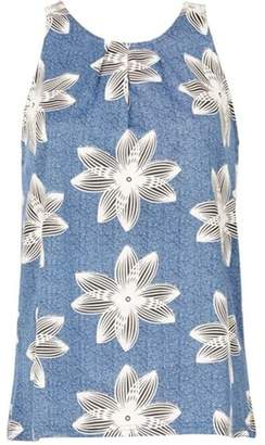 Dorothy Perkins Womens *Izabel London Blue Floral Print Sleeveless Top