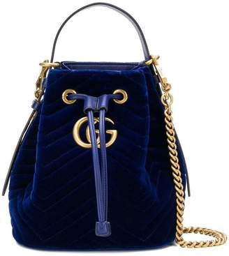Gucci logo bucket bag