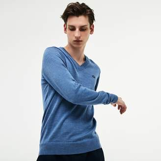 Lacoste Men's V-neck Wool Jersey Sweater