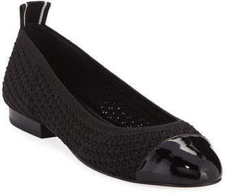 MICHAEL Michael Kors Vicky Knit Cap-Toe Ballet Flats