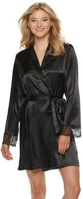Apt. 9 Women's Satin Lace Wrap Robe
