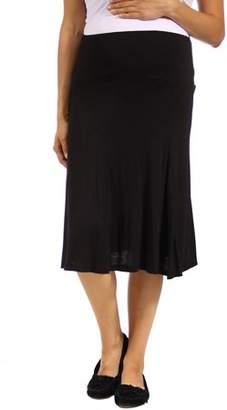 24/7 Comfort Apparel Women's Maternity Calf-Length Skirt