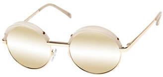Le Specs Jester 51mm Round Sunglasses