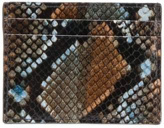 Etro snakeskin effect cardholder
