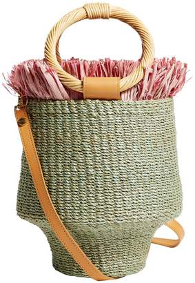 Aranaz Ada Fringe Bucket Bag