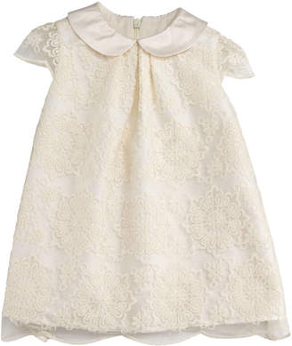 Luli & Me Scalloped Lace A-Line Dress, Size 12-24 Months