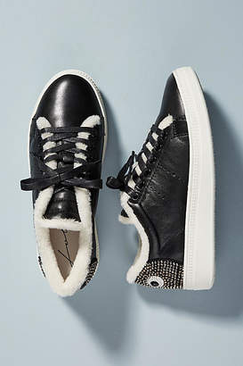Lola Cruz Eyes Leather Sneakers