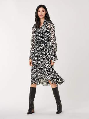 Diane von Furstenberg Debra Stretch-Georgette Midi Skirt
