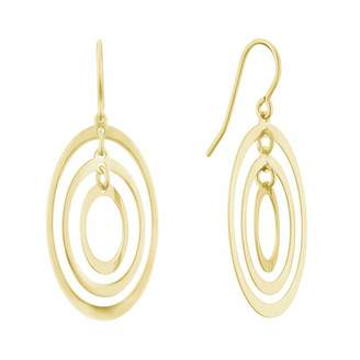 Together Silver & 9ct Bonded Gold Triple Oval Drop Earrings