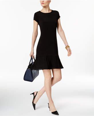 MICHAEL Michael Kors Pleated-Hem Fit & Flare Dress $125 thestylecure.com