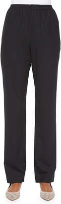 eskandar Mid-Rise Narrow-Leg Trousers, Black