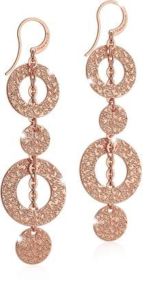 Rebecca R-ZERO Rose Gold Over Bronze Pendant Earrings