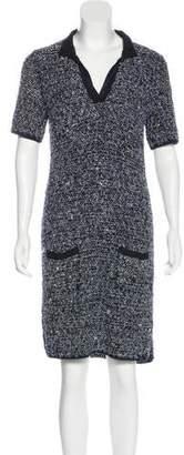 Lanvin Boucle` Metallic Dress