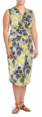 Rachel Roy Printed Matte Sheath Dress