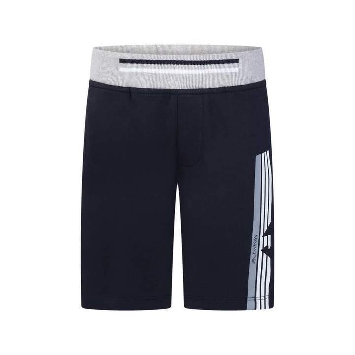 Armani JuniorBoys Navy Fleece Shorts