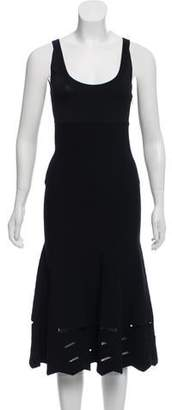Oscar de la Renta Wool Midi Dress
