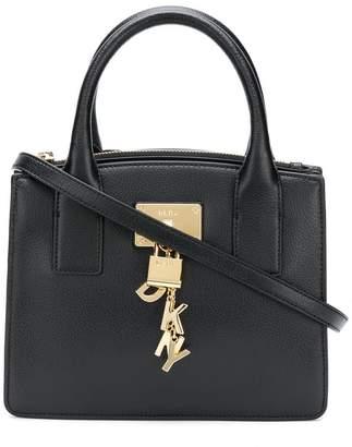 DKNY logo charm tote bag