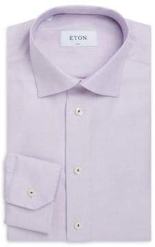 Eton Slim Fit Textured Cotton Dress Shirt