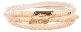 Marc Jacobs Lizard Skinny Belt