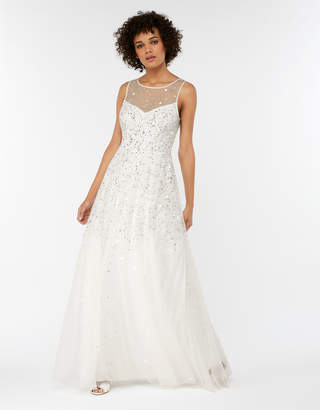 0c314cbc3f8 Monsoon Victoria Embellished Maxi Wedding Dress