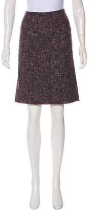 Philosophy di Alberta Ferretti Tweed Knee-Length Skirt