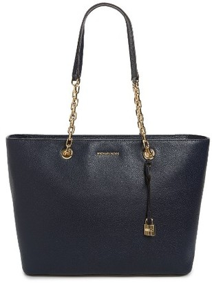 Michael Michael Kors Medium Mercer Leather Tote - Blue $298 thestylecure.com