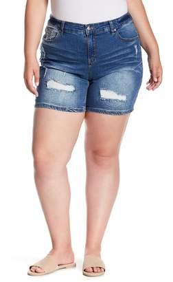 Marni SUPPLIES BY UNION BAY Distressed Denim Shorts (Plus Size)