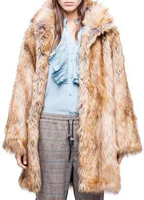Zadig & Voltaire Fury Faux-Fur Coat
