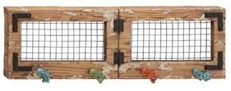 Benzara Rustic and Classic Wood Metal Wall Hook