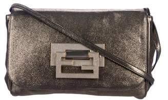 Fendi Metallic Leather Crossbody Bag