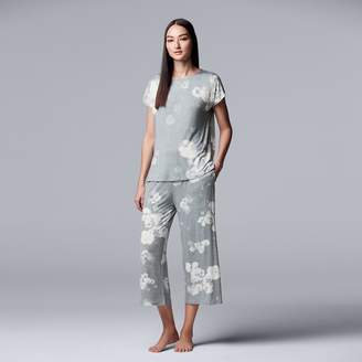 0db6682f46 Vera Wang Women s Simply Vera Top   Capri Pajama Set