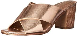 Kenneth Cole Reaction Women's Mass Away Heeled Mule X-Band Straps Sandal