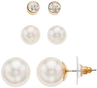 Napier Simulated Pearl Earring Set