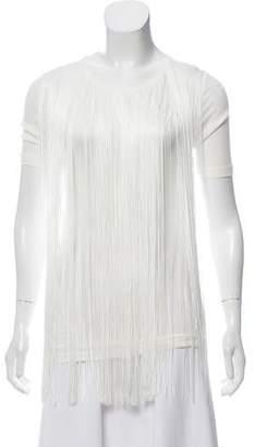 Stella McCartney Fringe-Accented Short Sleeve Top