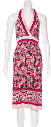 Tory Burch Printed Silk Halter Dress