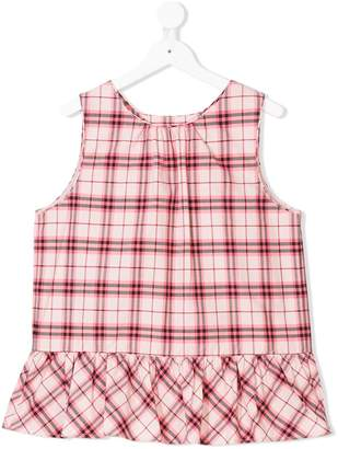 Burberry TEEN checked tunic top