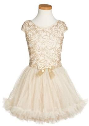 Popatu Sequin Cap Sleeve Dress